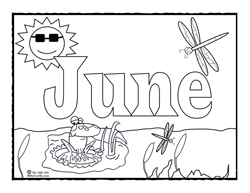 250x193 Coloring Page For June Sing Laugh Learn