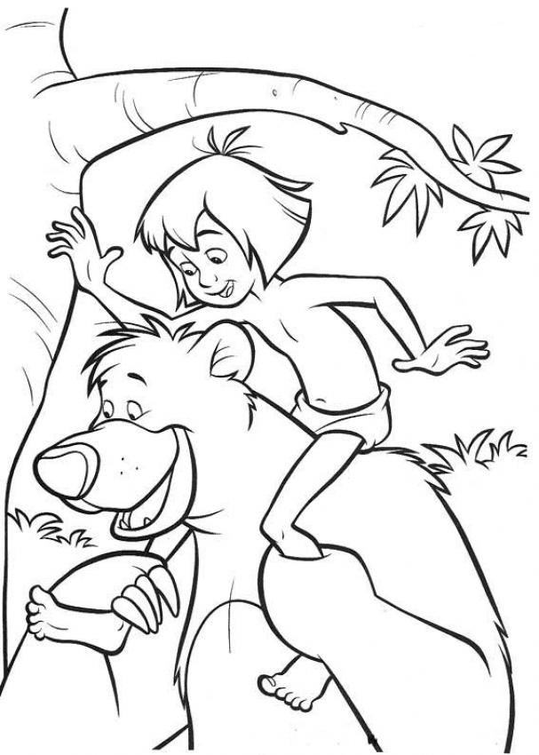 607x850 Jungle Book Coloring Pages Coloring Page For Kids Kids Coloring