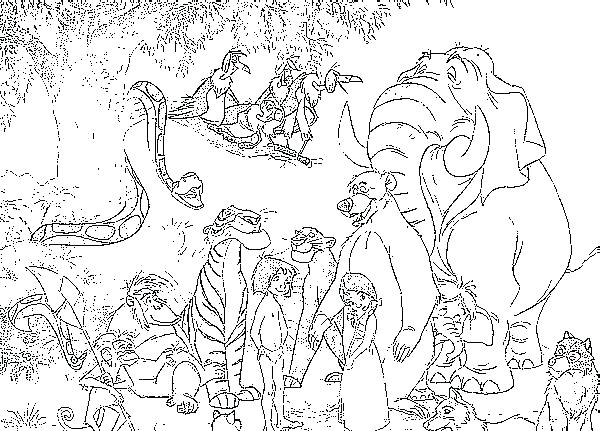 Jungle Book Coloring Pages At Getdrawings Free Download
