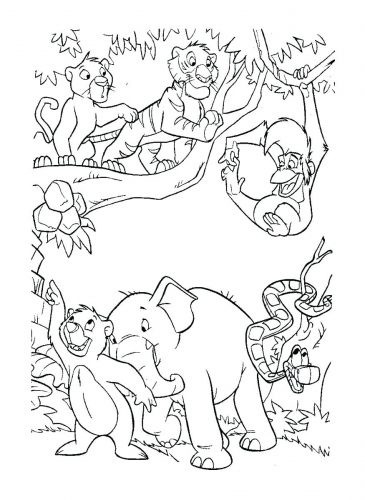 365x500 Coloring Pages Jungle Book Coloring Pages Jungle Book Colouring