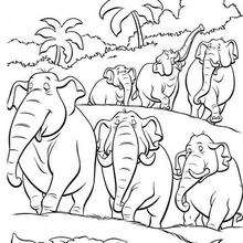 220x220 Elephant Squadron Coloring Pages