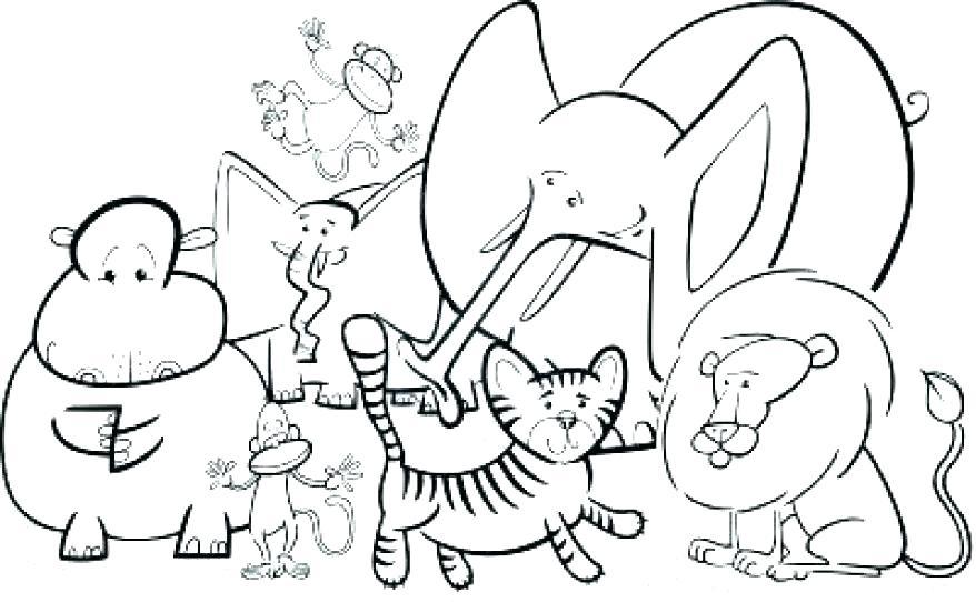 878x542 Jungle Animals Coloring Page Jungle Coloring Sheets Jungle Animals