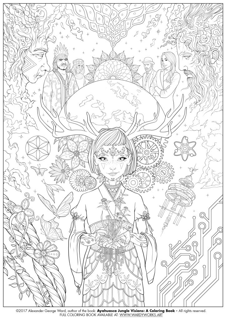 724x1024 Great Jungle Coloring Pages Wall Picture Unknown For Adults Free