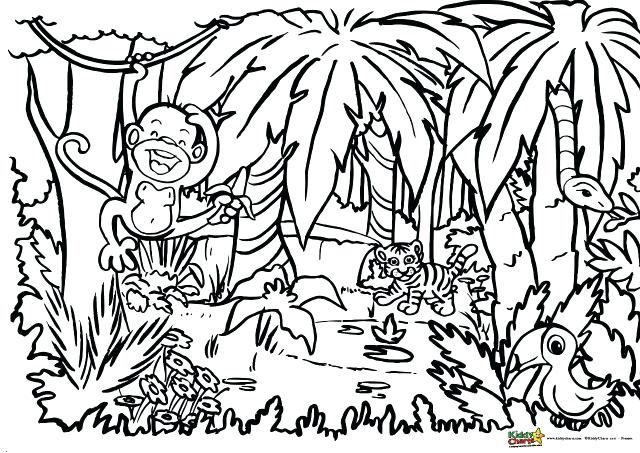 640x453 Jungle Book Coloring Pages Printable Baby Jungle Animals Coloring