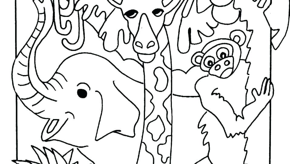 958x544 Jungle Coloring Page Jungle Coloring Page Tropical Coloring Page