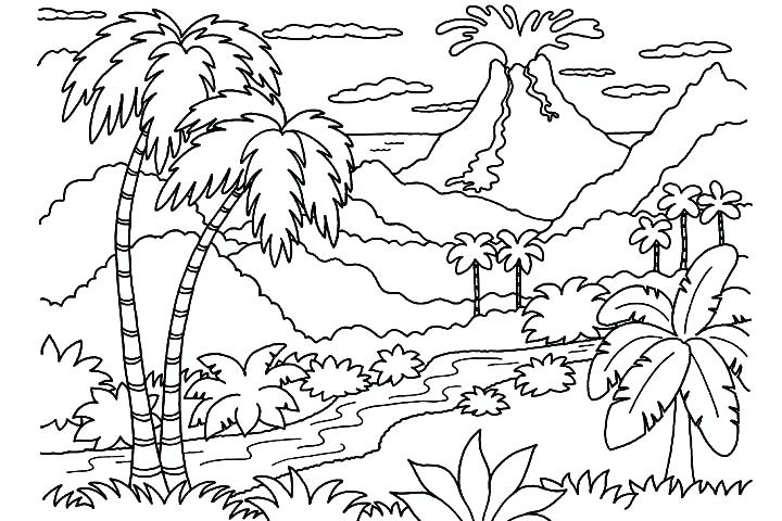720x480 Jungle Coloring Pages Nature Coloring Pages For Adults Nature