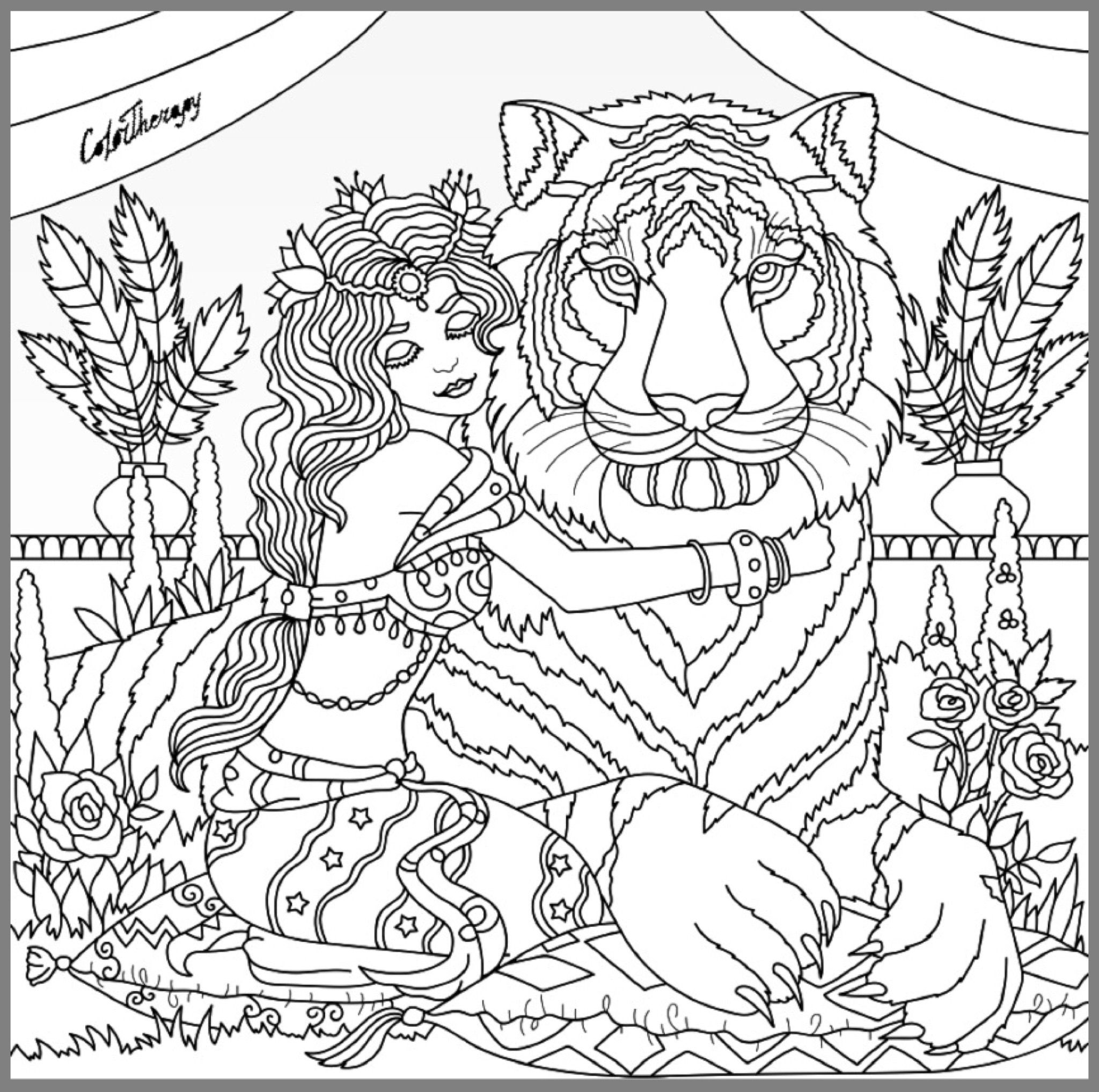 2048x2036 King Of The Jungle Coloring Page Coloring Pages For Adults
