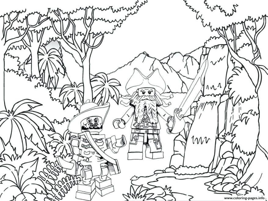 878x659 Pirate Themed Coloring Pages Pirates Jungle Coloring Pages