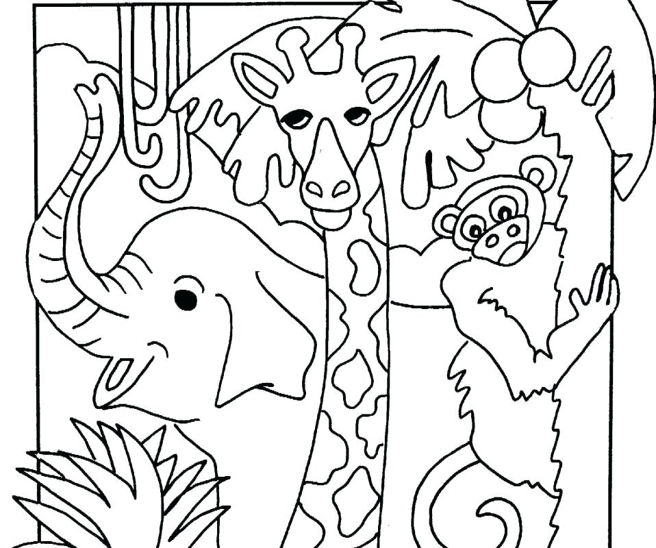 958x800 Printable Jungle Animal Coloring Beautiful Pages Adult For Adults