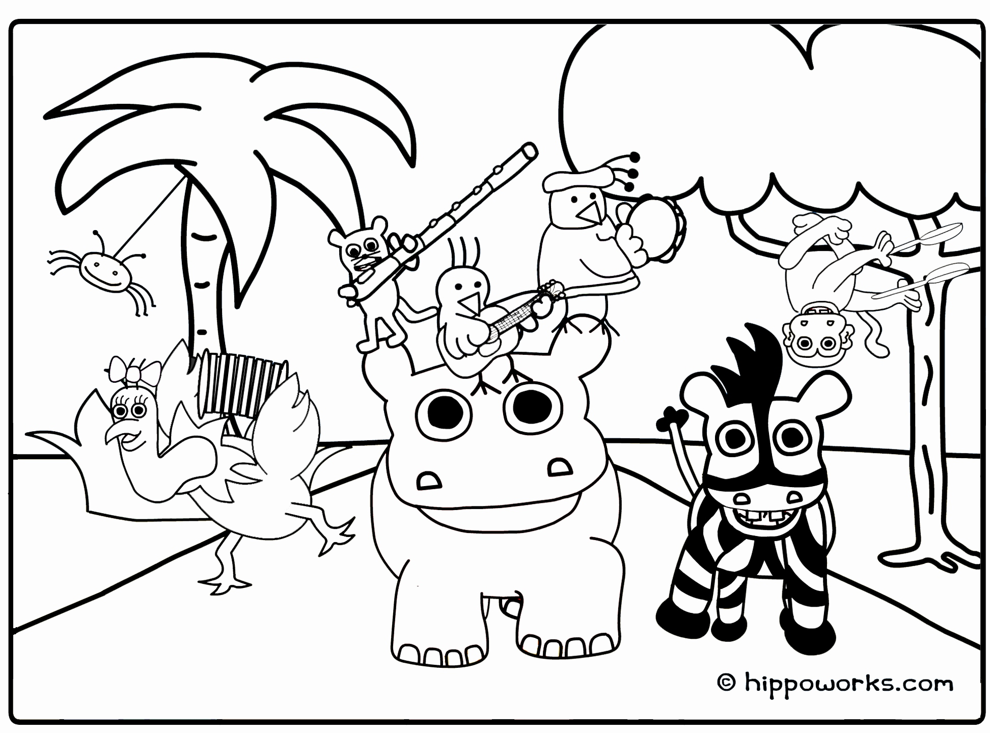 1944x1440 Zoo Animal Coloring Pages Best Of Adult Coloring Pages Jungle