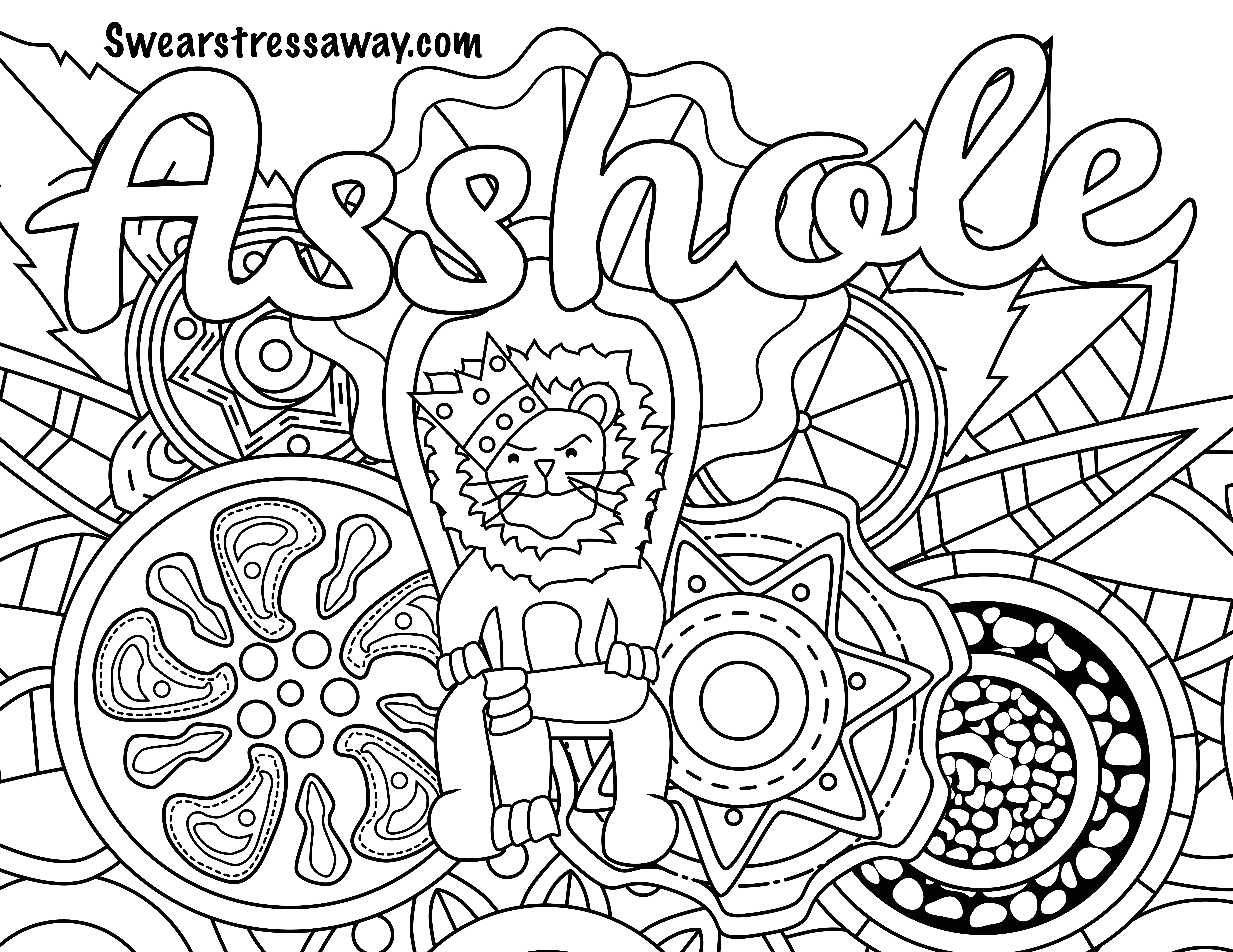 6900x5328 Cool Amazon Swear Word Coloring Book The Jungle Adult Coloring