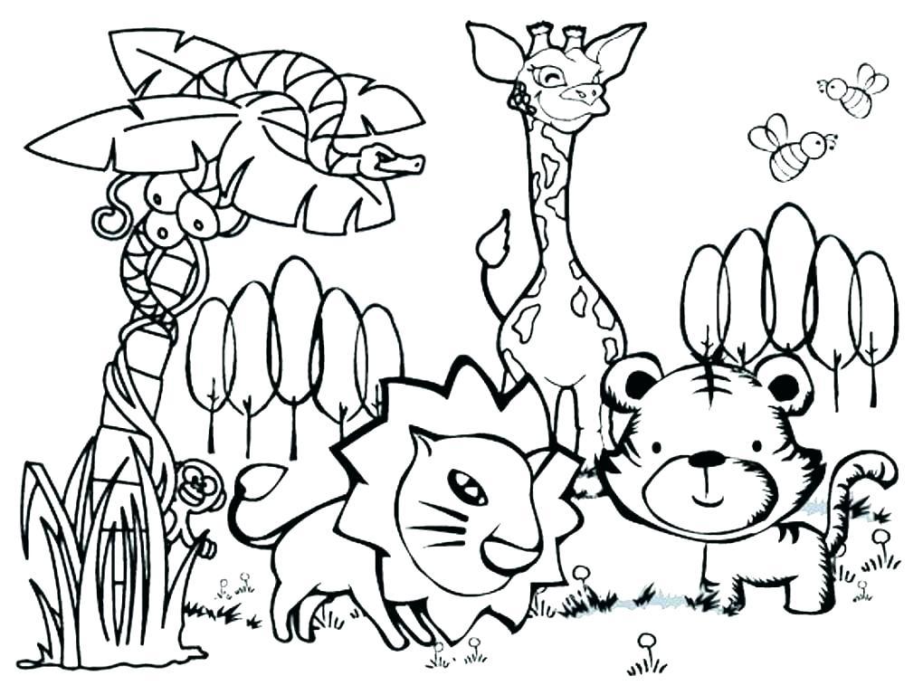 1020x768 Forest Coloring Page Forest Coloring Page Adult Jungle Coloring