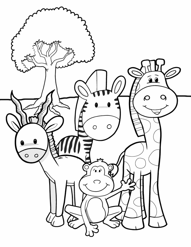 640x828 Ingenious Inspiration Ideas Printable Jungle Animal Coloring Pages