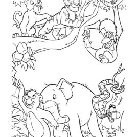 268x268 Jungle Coloring Pages