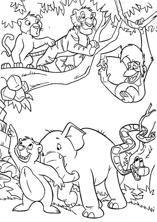600x849 Jungle Coloring Pictures Jungle Book Coloring Pages Best Coloring
