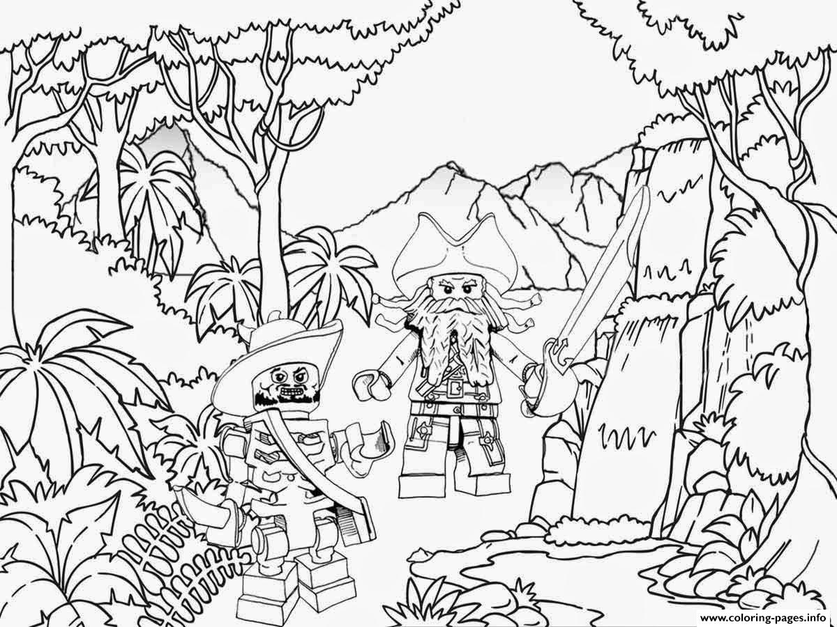 1200x900 Lego Pirates Jungle Coloring Pages Printable