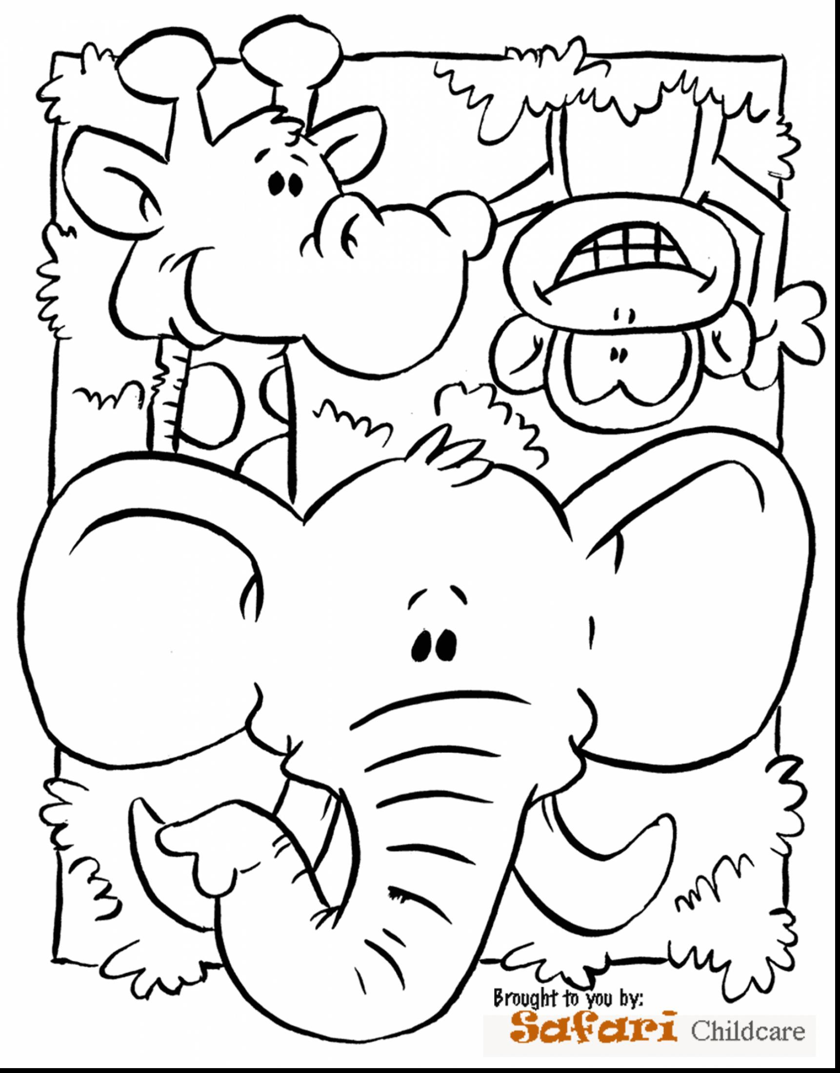 1722x2200 Remarkable Preschool Jungle Animals Coloring Pages With Page