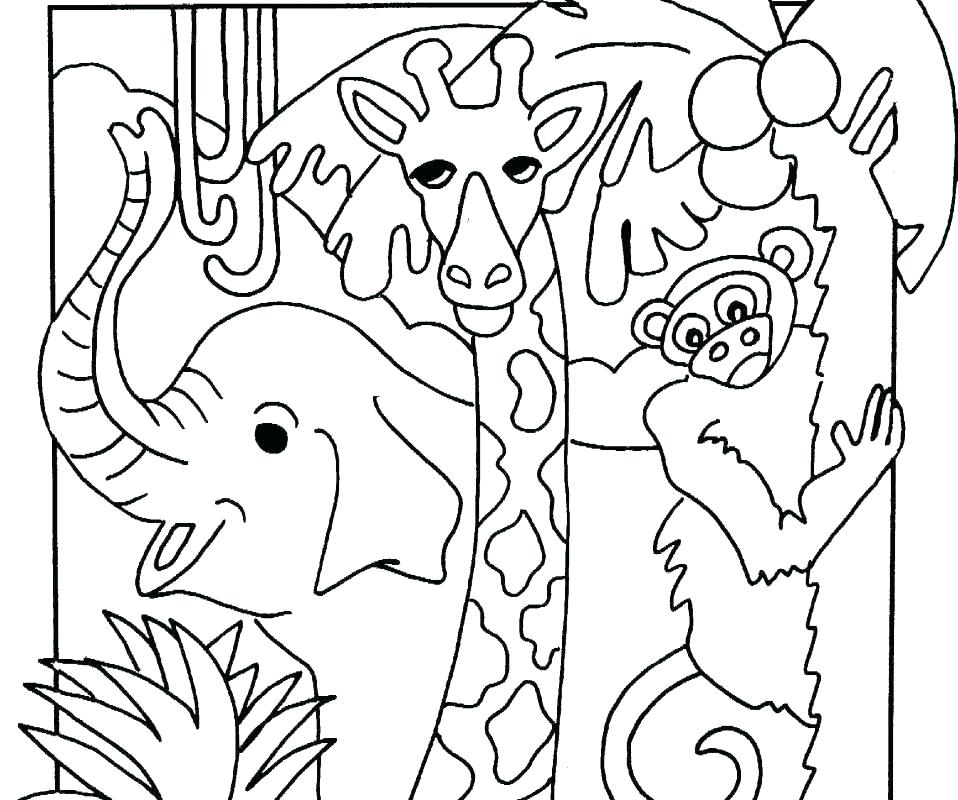 958x800 Coloring Pages Jungle Jungle Printable Coloring Pages Shoot
