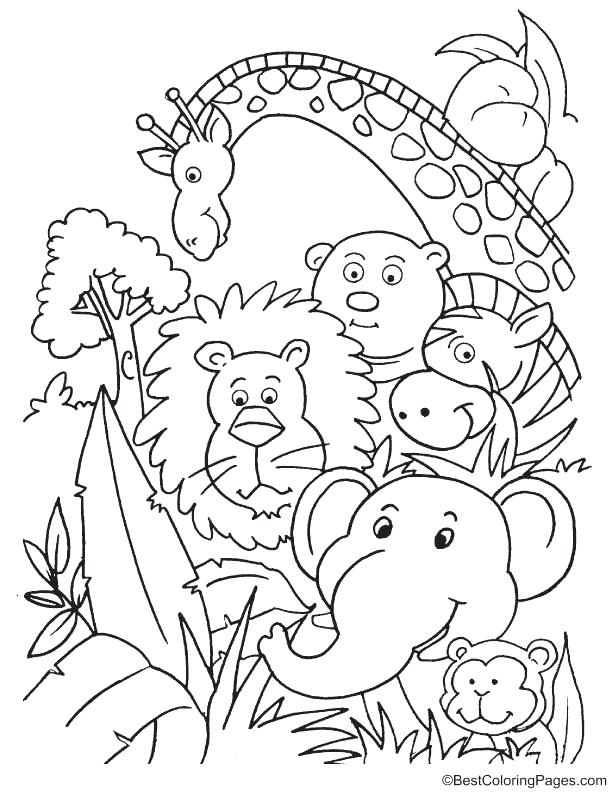 612x792 Jungle Coloring Page Jungle Animals Coloring Page Jungle Animal