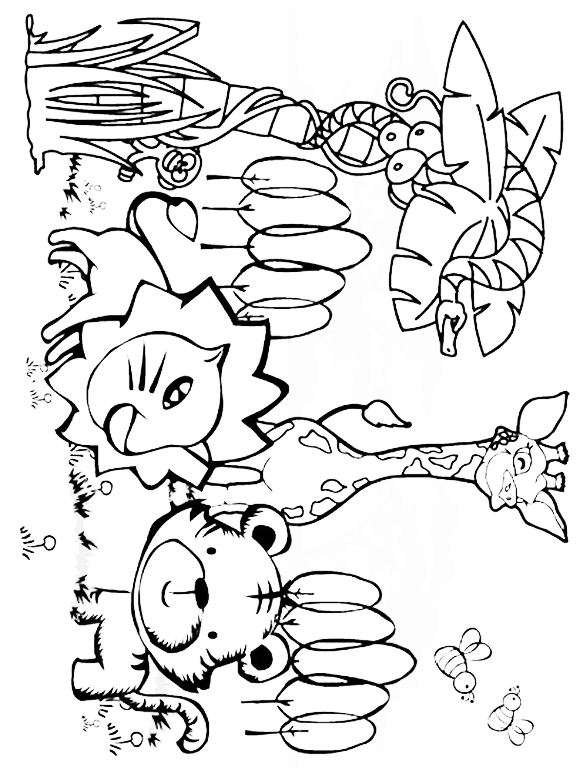 Jungle Coloring Pages For Preschoolers at GetDrawings ...