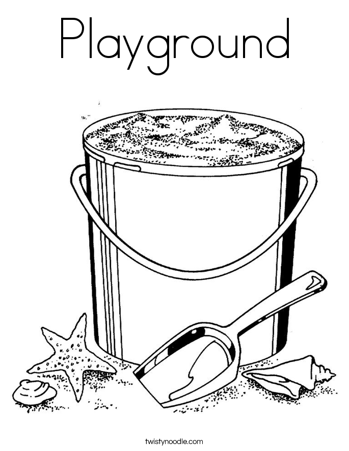 685x886 Playground Coloring Page