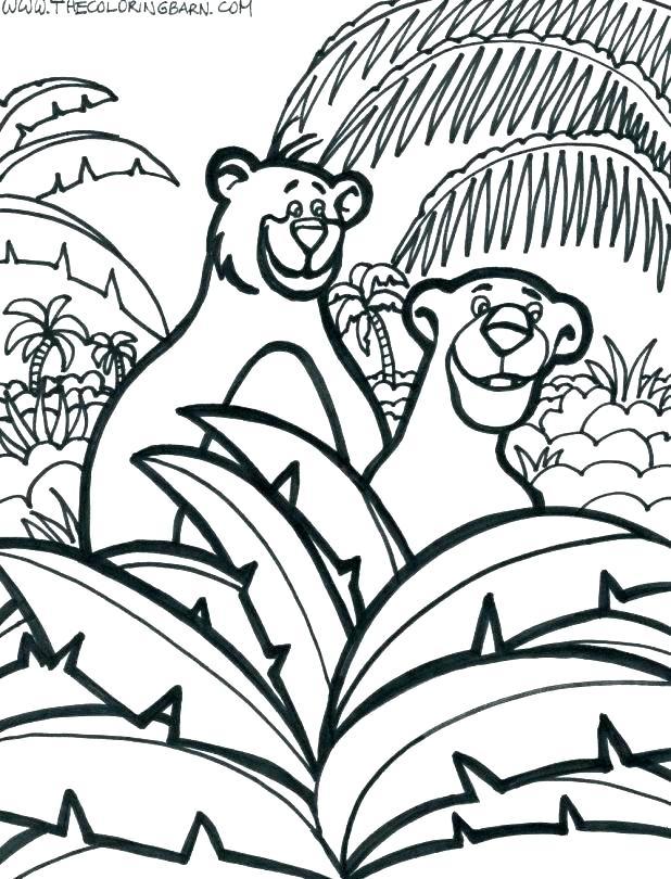 618x810 Jungle Coloring Page Jungle Book Coloring Page Jungle Printable