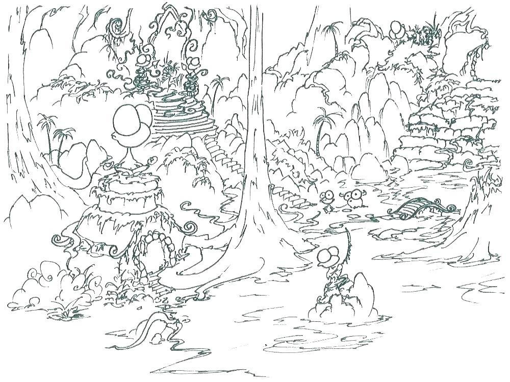 1000x749 Jungle Junction Coloring Pages Jungle Coloring Page Jungle