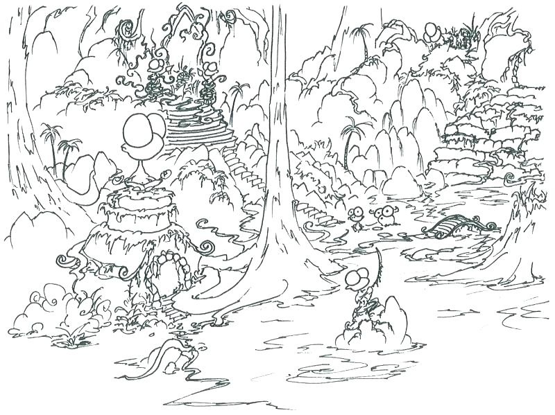 800x599 Jungle Book Coloring Pages Jungle Coloring Page Jungle Scene