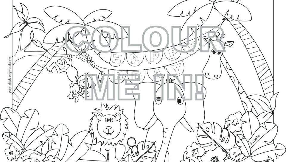 960x544 Jungle Coloring Pages Printable Jungle Coloring Pages Image Jungle