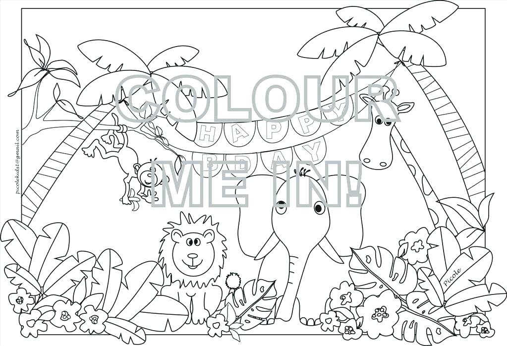 1023x698 Jungle Printable Coloring Pages Coloring Page Printable Jungle