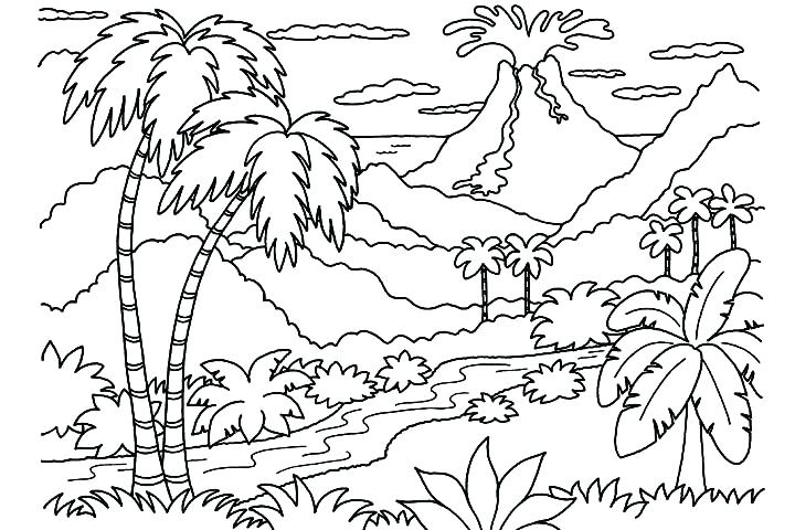720x480 Nature Coloring Pages Winter Scenery Coloring Pages Download Free