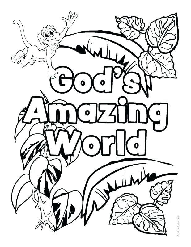 618x800 Colouring Pages Jungle Scene