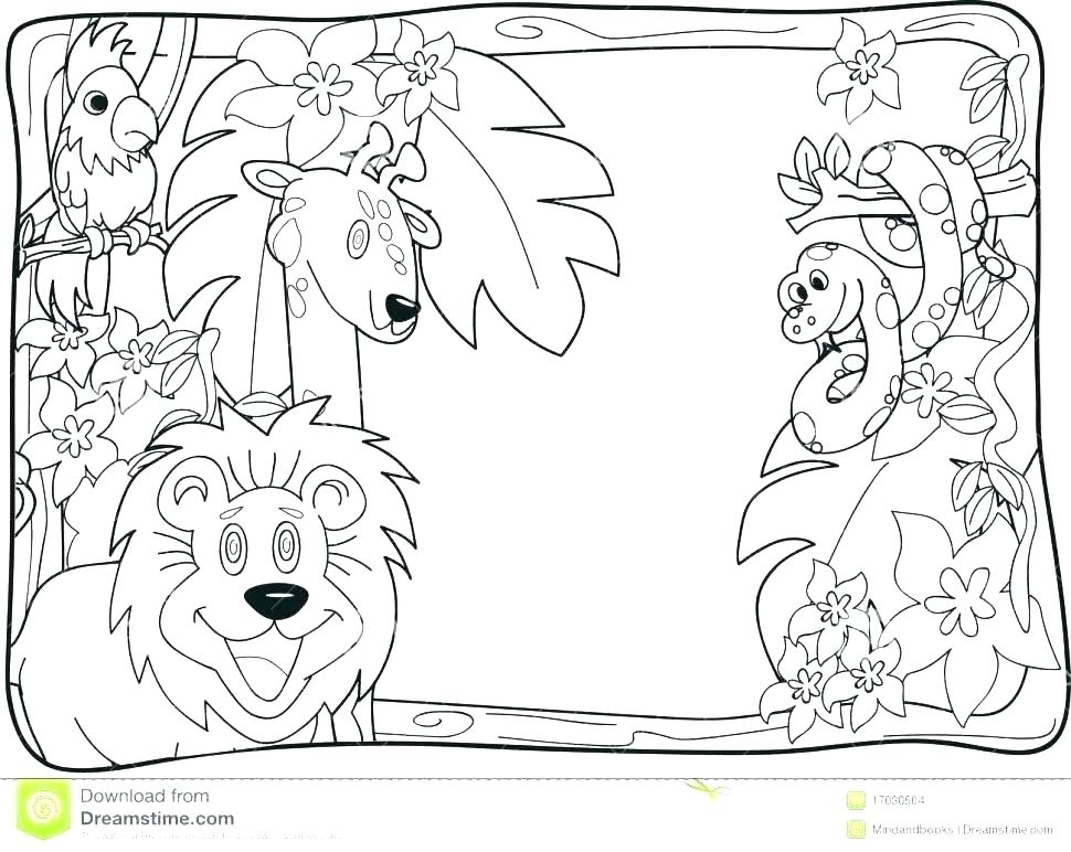 970x772 Jungle Scene Coloring Pages