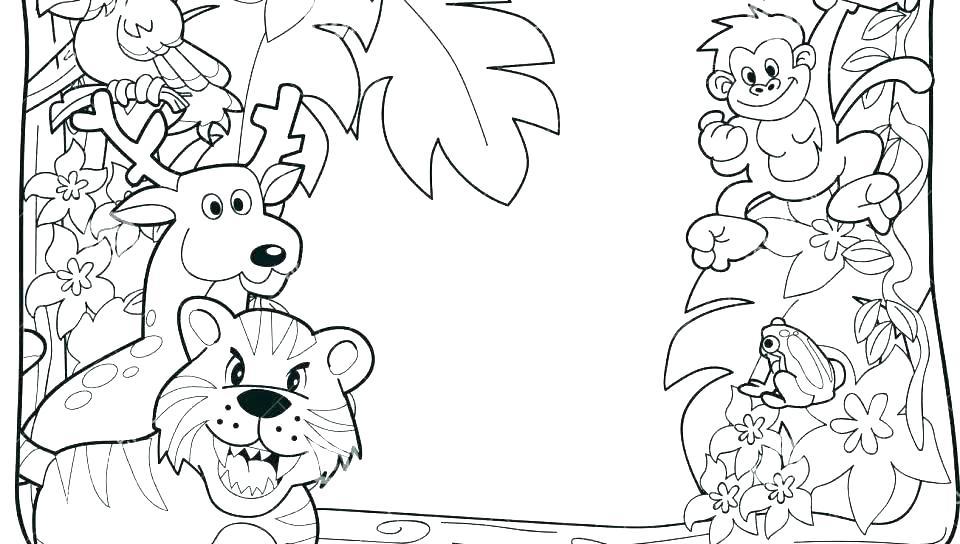 960x544 Rainforest Scene Coloring Pages Coloring Design