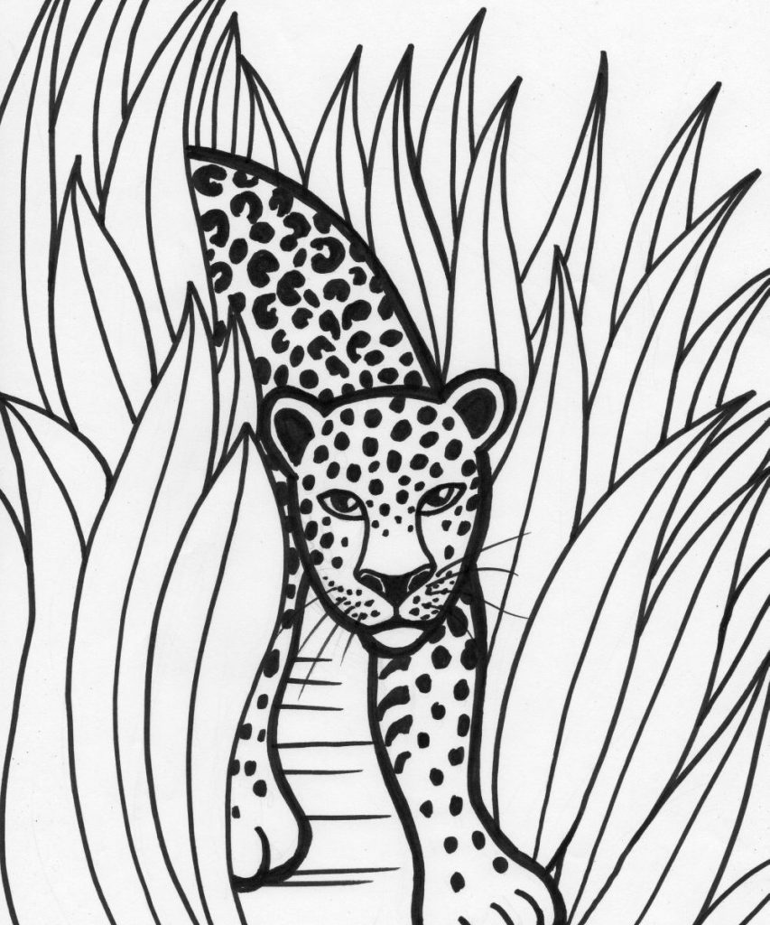 853x1024 Elephant In The Jungle Coloring Pages For Adults Free Printable