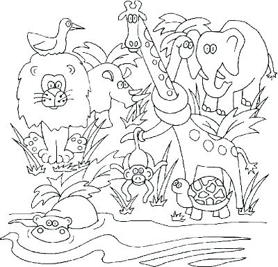 400x384 Jungle Coloring Pages Free S Free Jungle Themed Coloring Pages