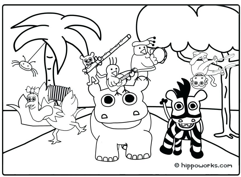 827x609 Jungle Coloring Pages Printable Popular Jungle Coloring Sheet