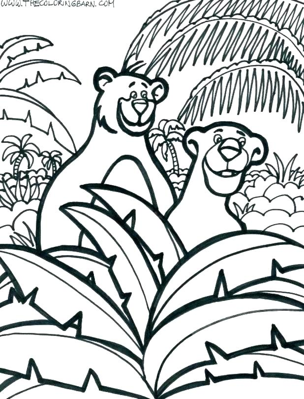 618x810 Jungle Coloring Pages Printable Printable Jungle Themed Coloring