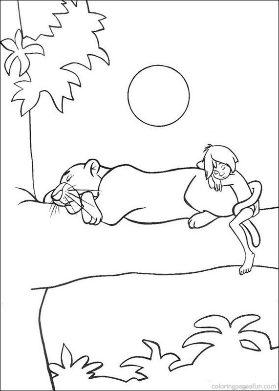 Jungle Tree Coloring Page