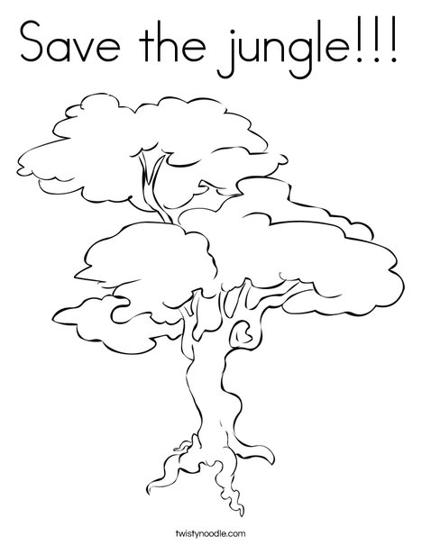 468x605 Save The Jungle Coloring Page