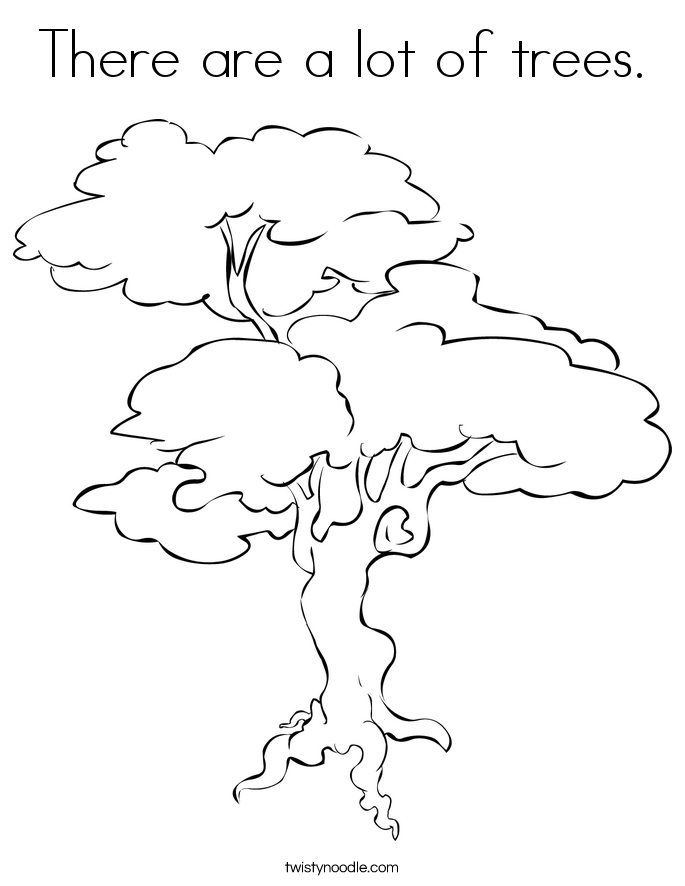 685x886 There Are A Lot Of Trees Coloring Page