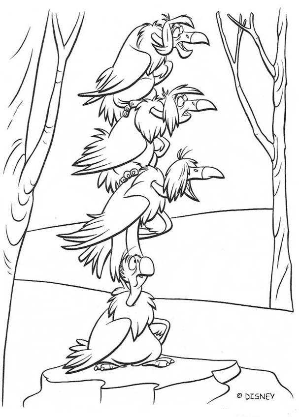 607x850 Vultures Of The Jungle Coloring Pages