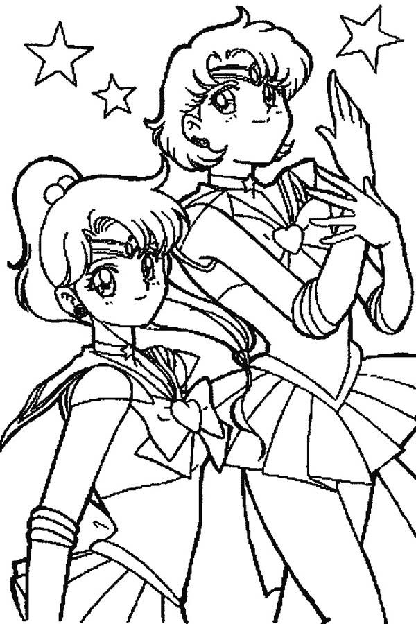 600x900 Jupiter Coloring Pages Sailor Jupiter And Sailor Mars In Sailor