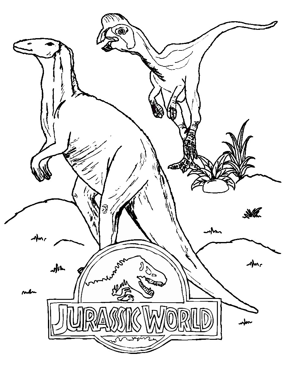 Jurassic Coloring Pages