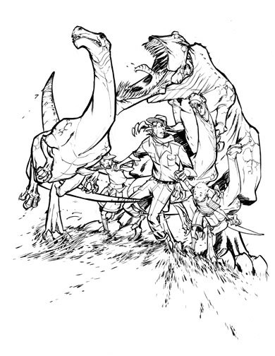 390x504 Jurassic Park Coloring Book