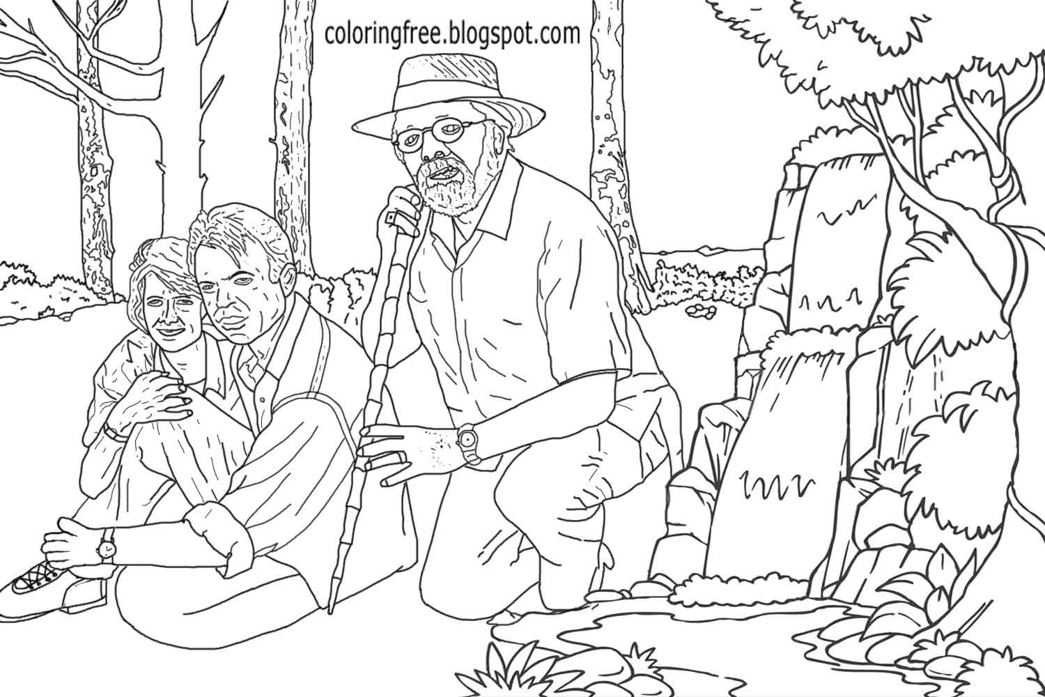 1500x1000 Jurassic Park Coloring Pages