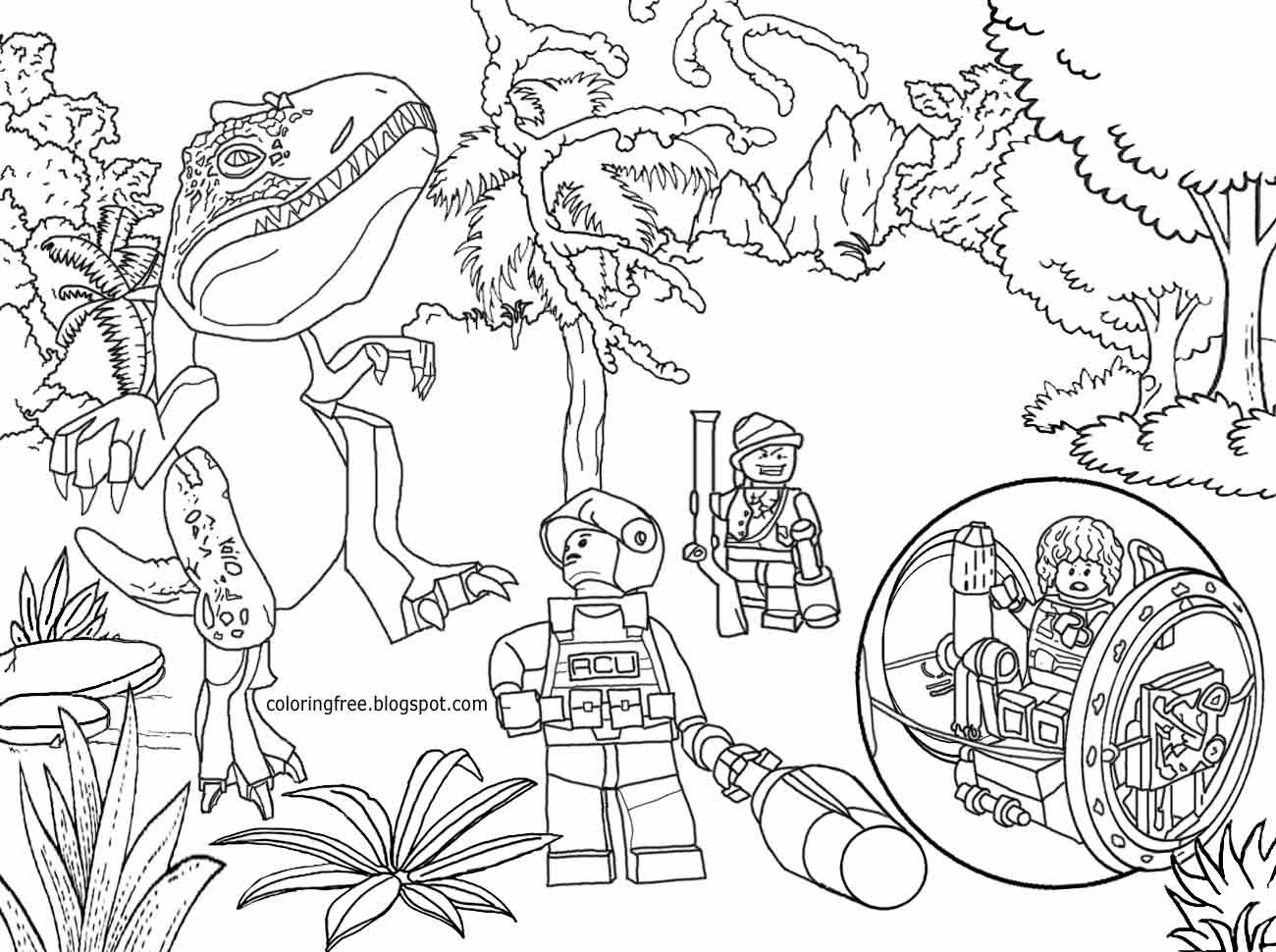 1300x970 Jurassic Park Coloring Pages
