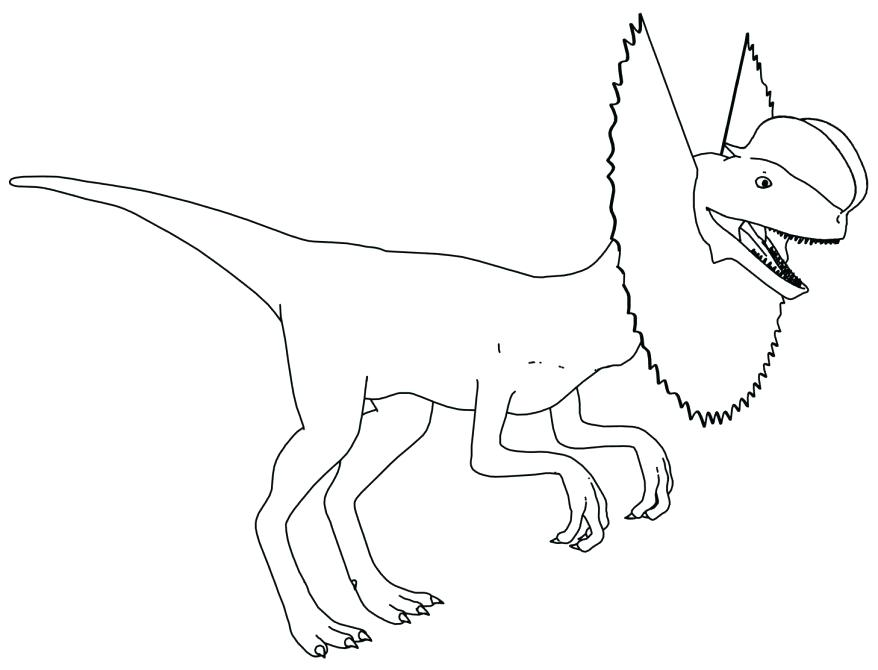 878x670 Velociraptor Coloring Pages Coloring Dinosaur Coloring Page