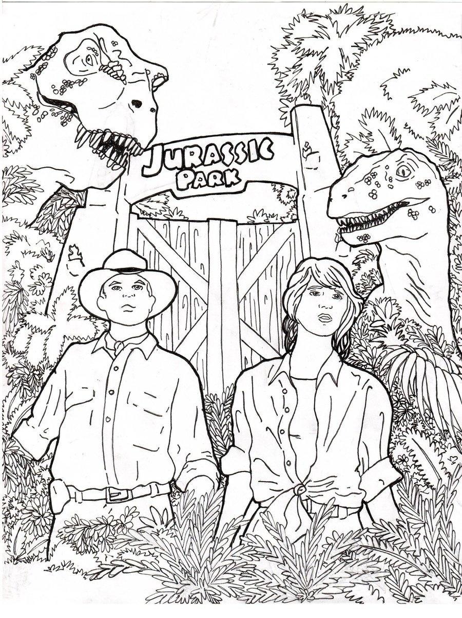 900x1202 Elegant Jurassic Park Coloring Pages For Kids Online