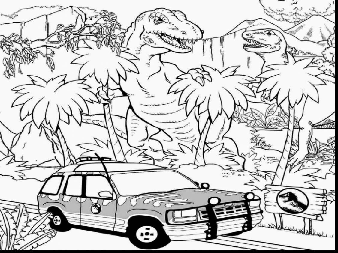 1126x844 Jurassic Park Coloring Page